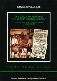 Revolucion mexicana y la opinion publica española,la