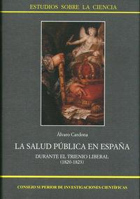 Salud publica en españa durante el trienio liberal (1820-182