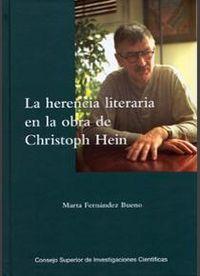 Herencia literaria en la obra de christoph hein,la