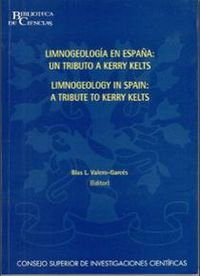 Limnogeology in spain (limnogeologia en españa)