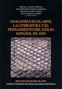 Analogias en el arte, la literatura y el pensamiento del exi