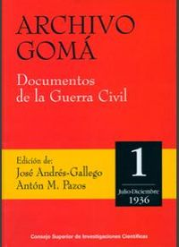 Archivo goma. documentos de la guerra civil