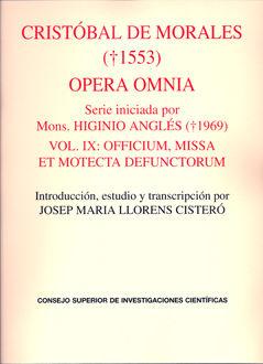 Opera omnia vol.ix officium missa et motecta defunctorum