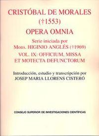 Opera omnia.vol. ix. officium, missa et motecta defunctorum