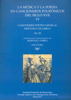 Musica poesia cancioneros polifonicos siglo vi vol.iii