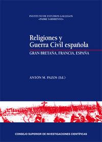 Religiones y guerra civil española: gran bretaña, francia, e