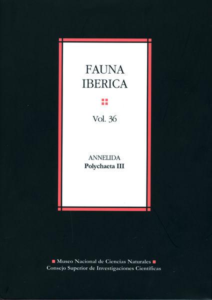 Fauna iberica 36 annelida polychaeta iii