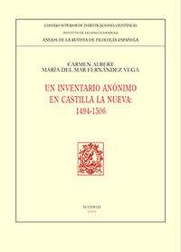 Un inventario anonimo en castilla la nueva (1494-1506)