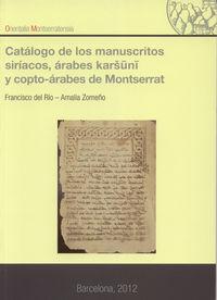 Catalogo de los manuscritos siriacos, arabes karsuni y copto