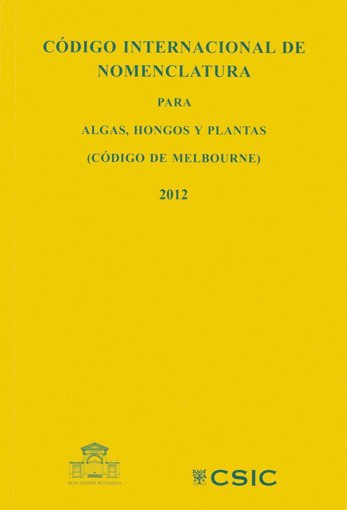 Codigo internacional nomenclatura para algas hongos y plant