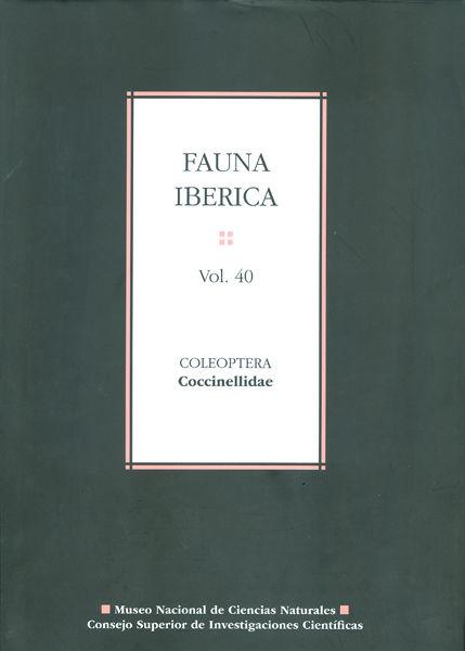 Fauna iberica 40 coleoptera coccinellidae