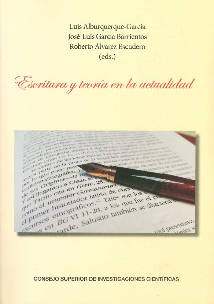 Escritura y teoria en la actualidad