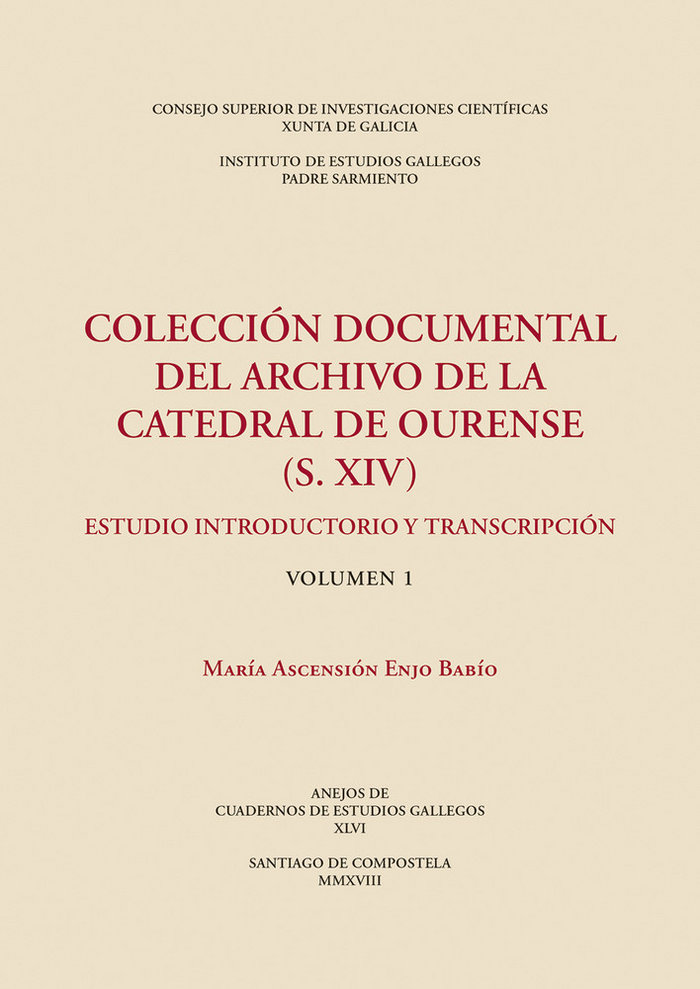 Coleccion documental del archivo de la catedral de ourense (