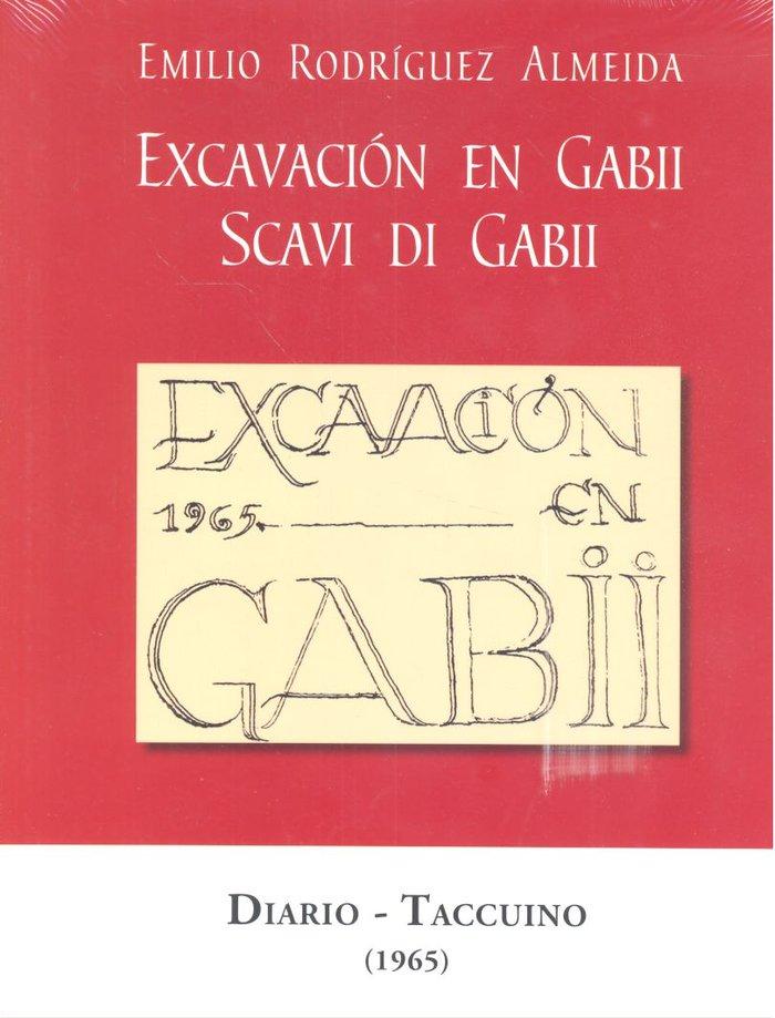 Excavacion en gabii scavi di gabii diario taccuino 1965