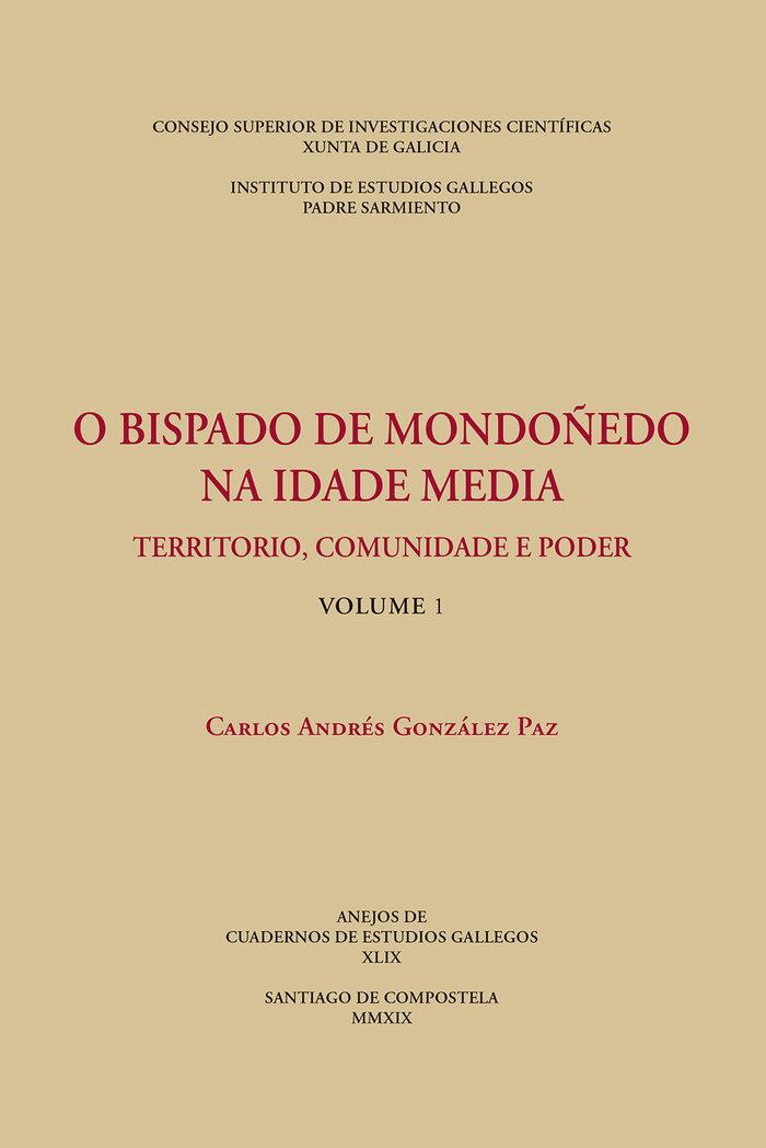 O bispado de mondoñedo na idade media : territorio, comunida