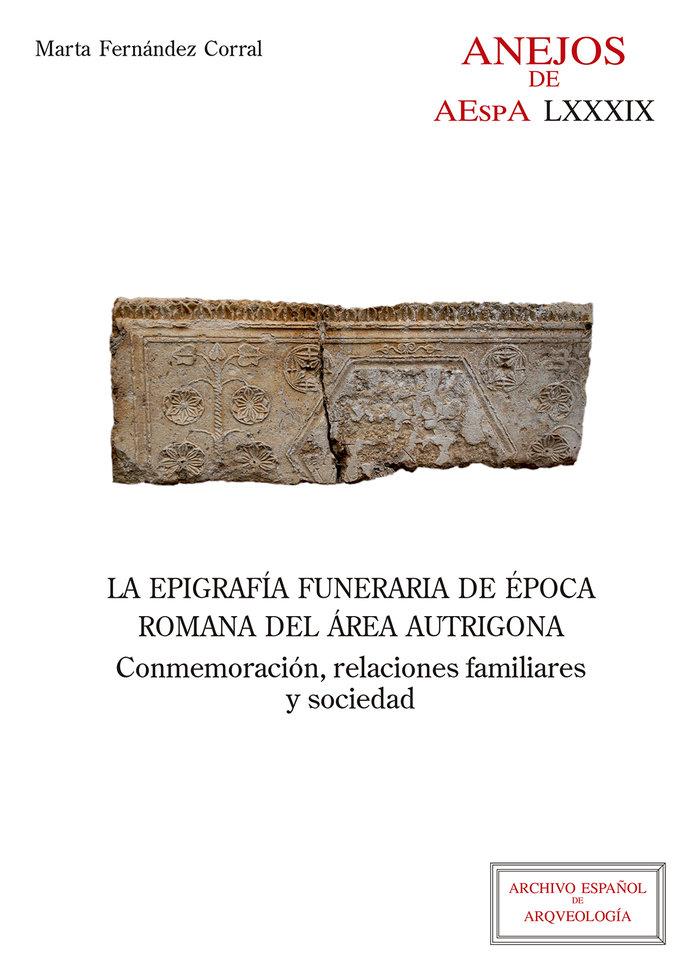 Epigrafia funeraria de epoca romana del area autrigona