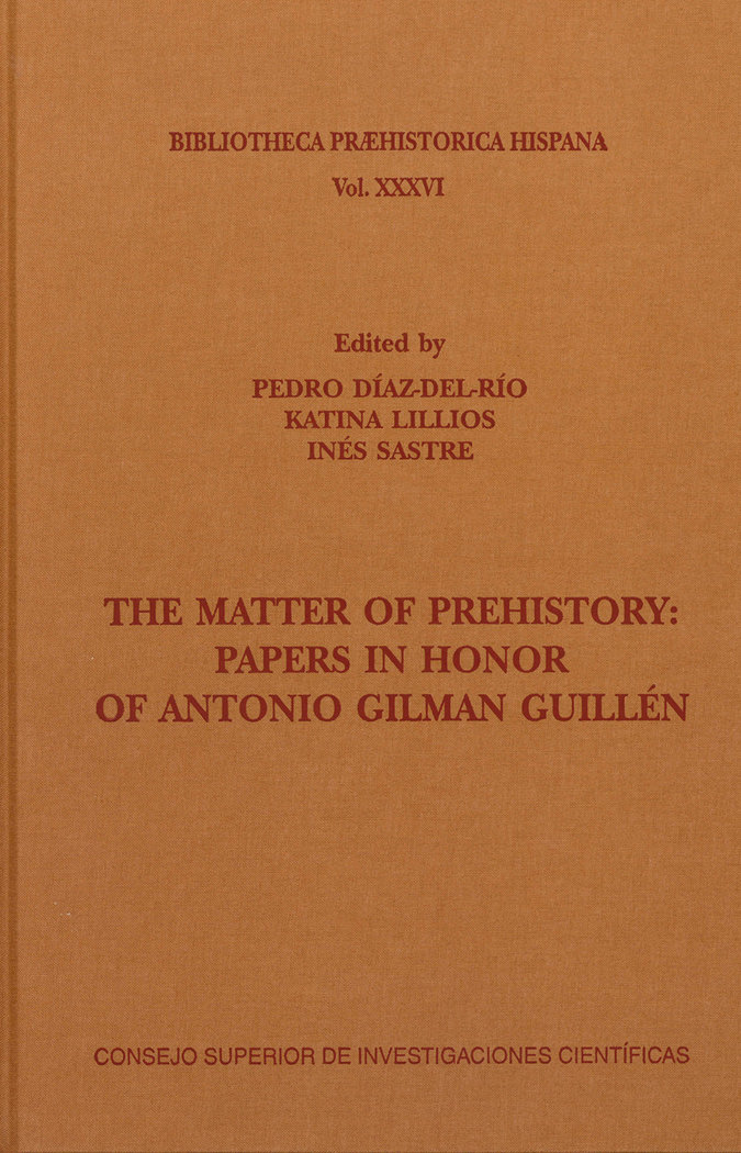 The matter of prehistory papers in honor