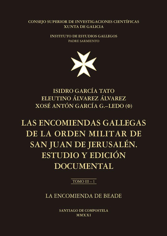 Las encomiendas gallegas de la orden militar de san juan de