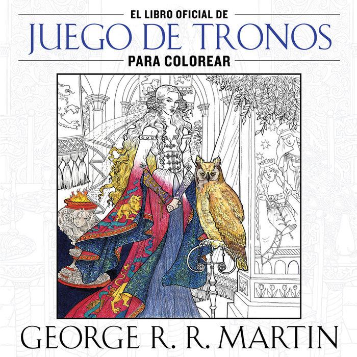 Libro oficial de juego de tronos para colorear,el