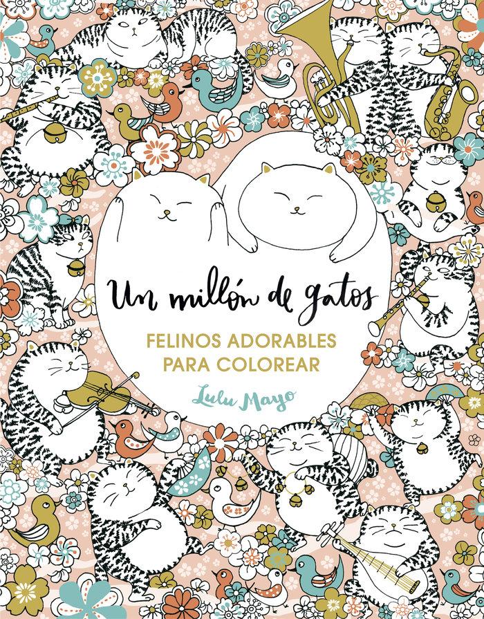Un millon de gatos felinos adorables para colorear