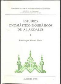 Estudios onomasticos i al anadalus