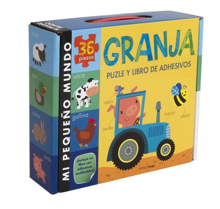 Granja puzle y libro de adhesivos