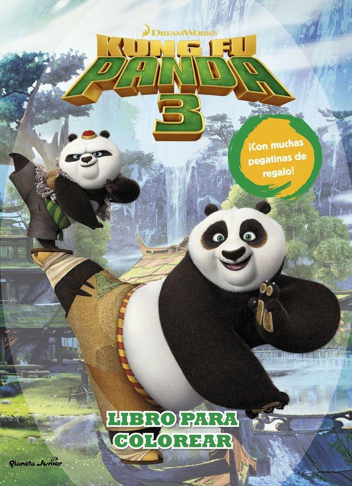 Kung fu panda 3 libro para colorear