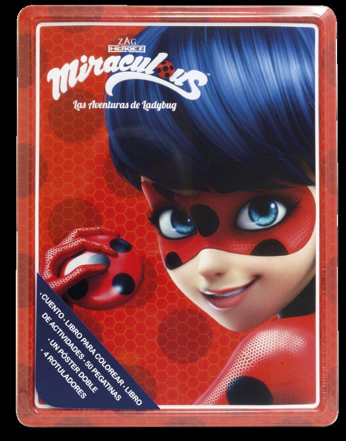 Miraculous las aventuras de ladybug caja metalica
