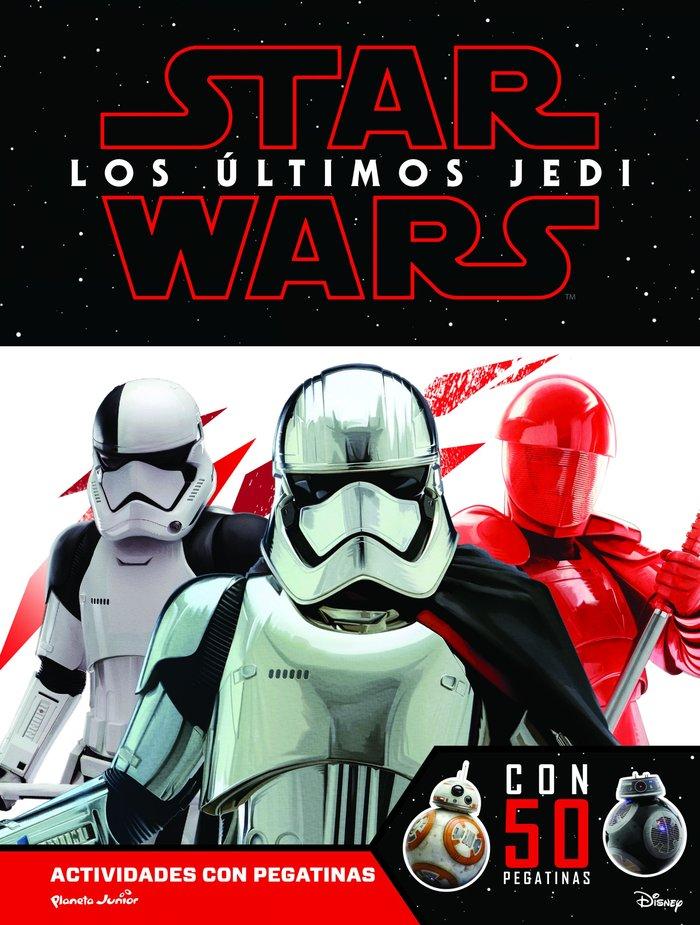 Star wars los ultimos jedi 50 pegatinas actividades