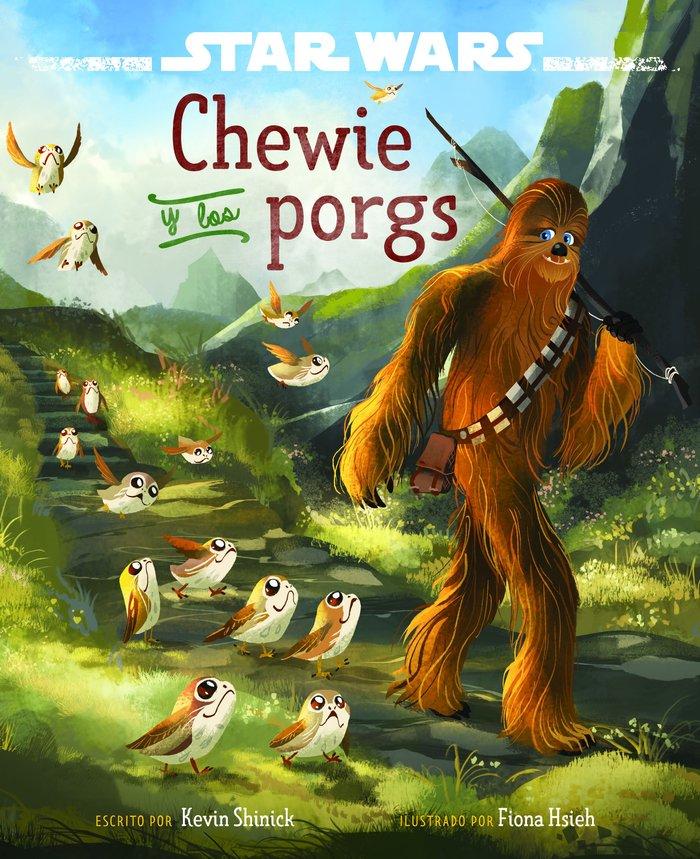 Star wars chewie y los porgs