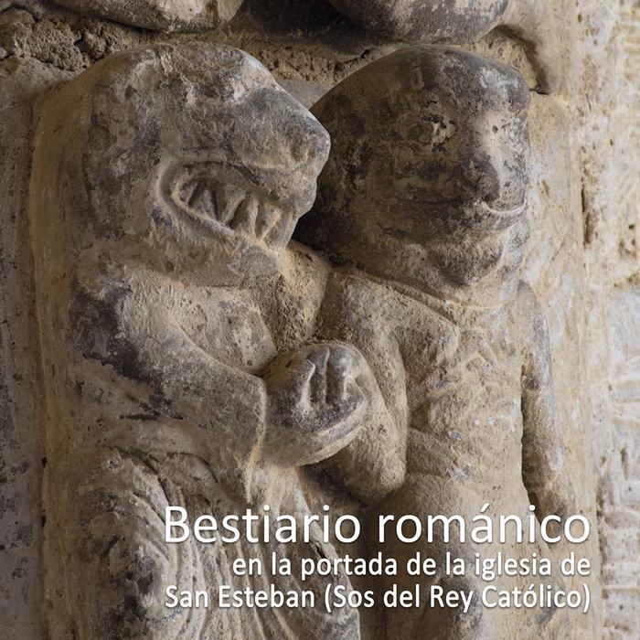 Bestiario romanico en la portada de la iglesia de s. esteban