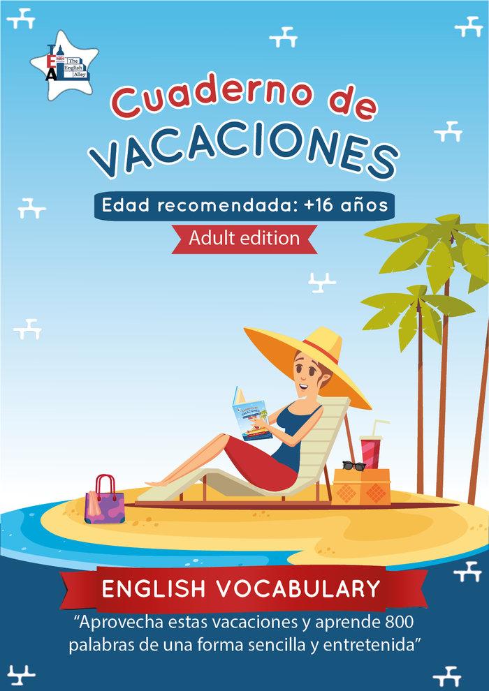 Cuaderno de vacaciones english vocabulary - adult edition -