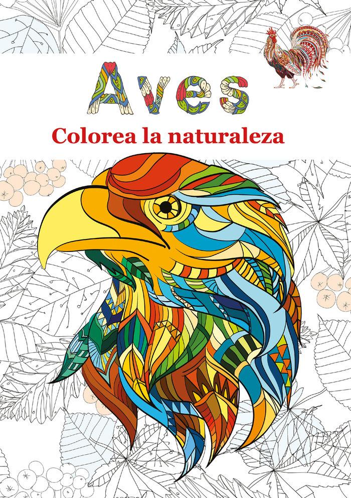 Aves colorea la naturaleza