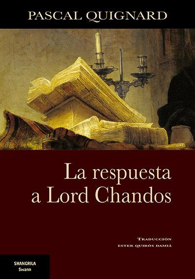 Respuesta a lord chandos,la
