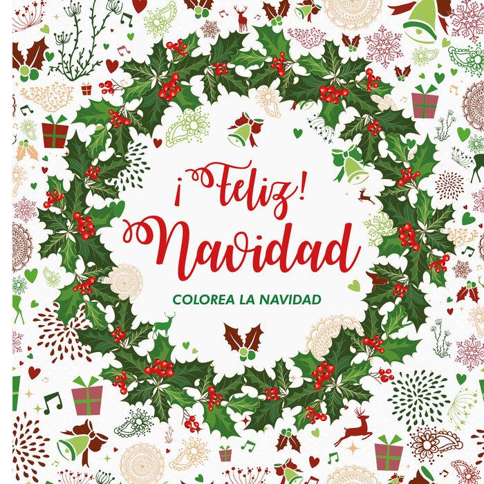 Feliz navidad colorea la navidad