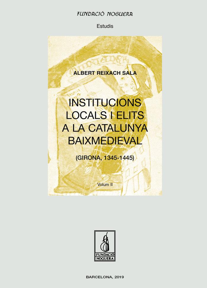 Institucions locals i elits a la catalunya baixmedieval. obr