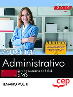 Auxiliar administrativo servicio murciano salud vol 3