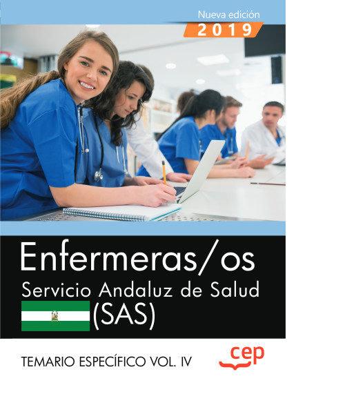 Enfermeras/os servicio andaluz salud sas temario vol 4