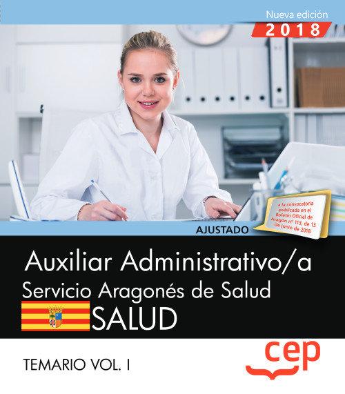 Auxiliar administrativo/a servicio aragon salud vol 1