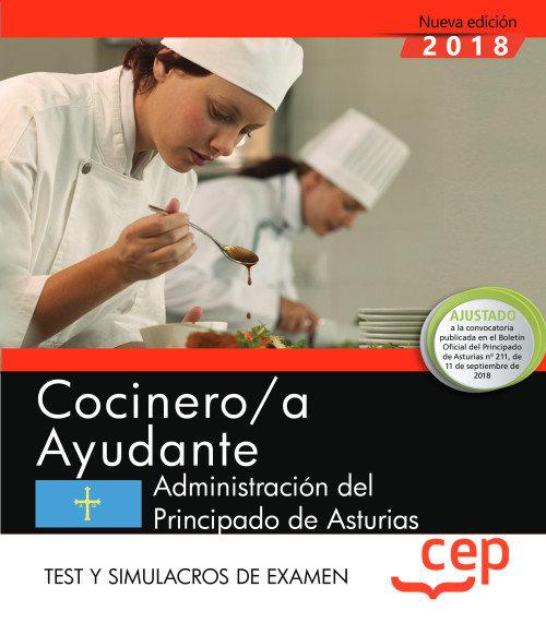 Cocinero/a ayudante administracion principado asturias test
