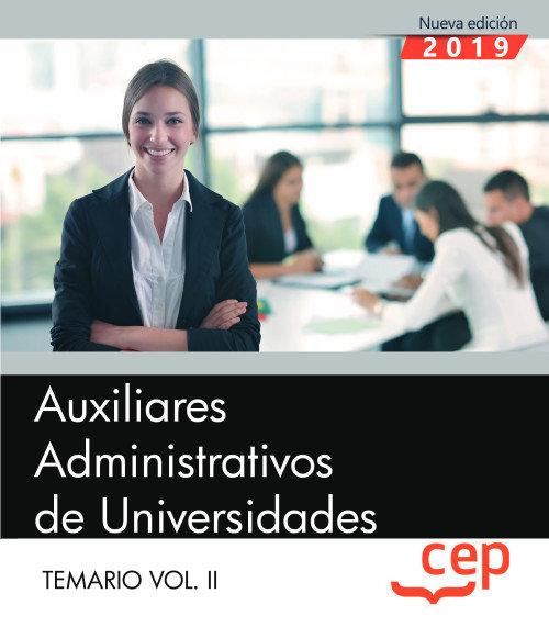 Auxiliares administrativos de universidades temario vol ii