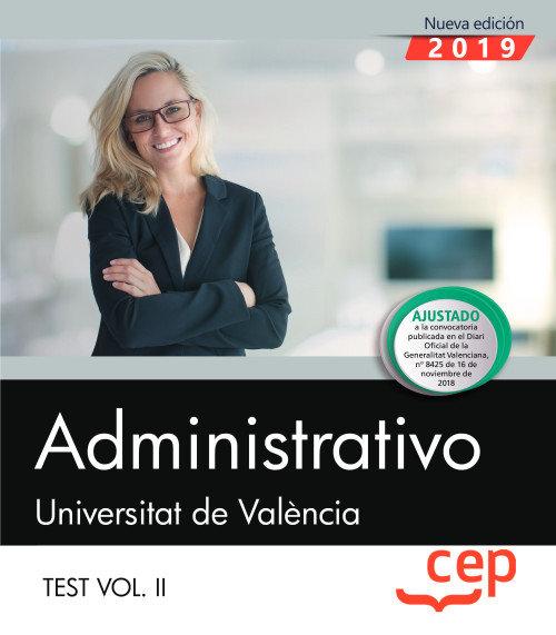 Administrativo universitat de valencia test vol 2