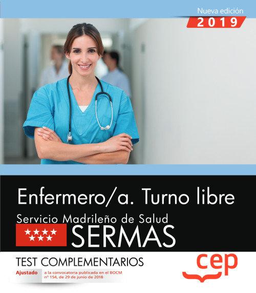 Enfermero/a turno libre servicio madrileño test complementa