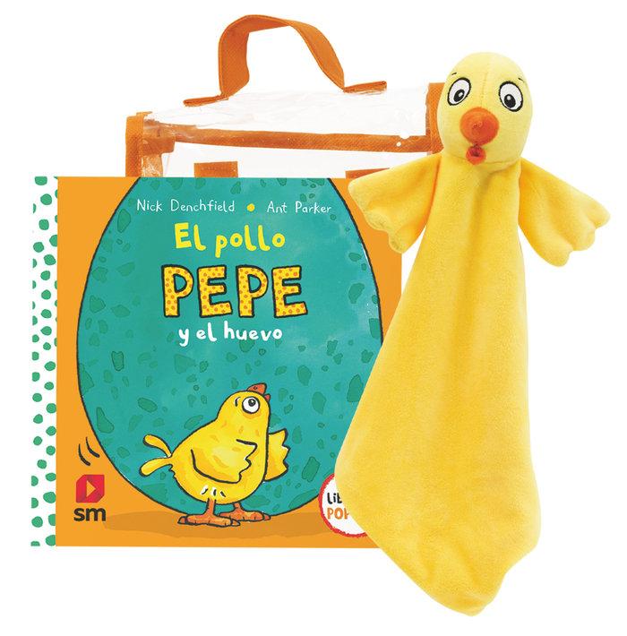 Pack pollo pepe y huevo con muñeco