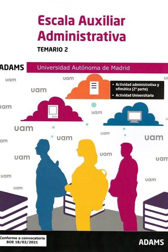 Escala auxiliar administrativa temario 2 universidad au
