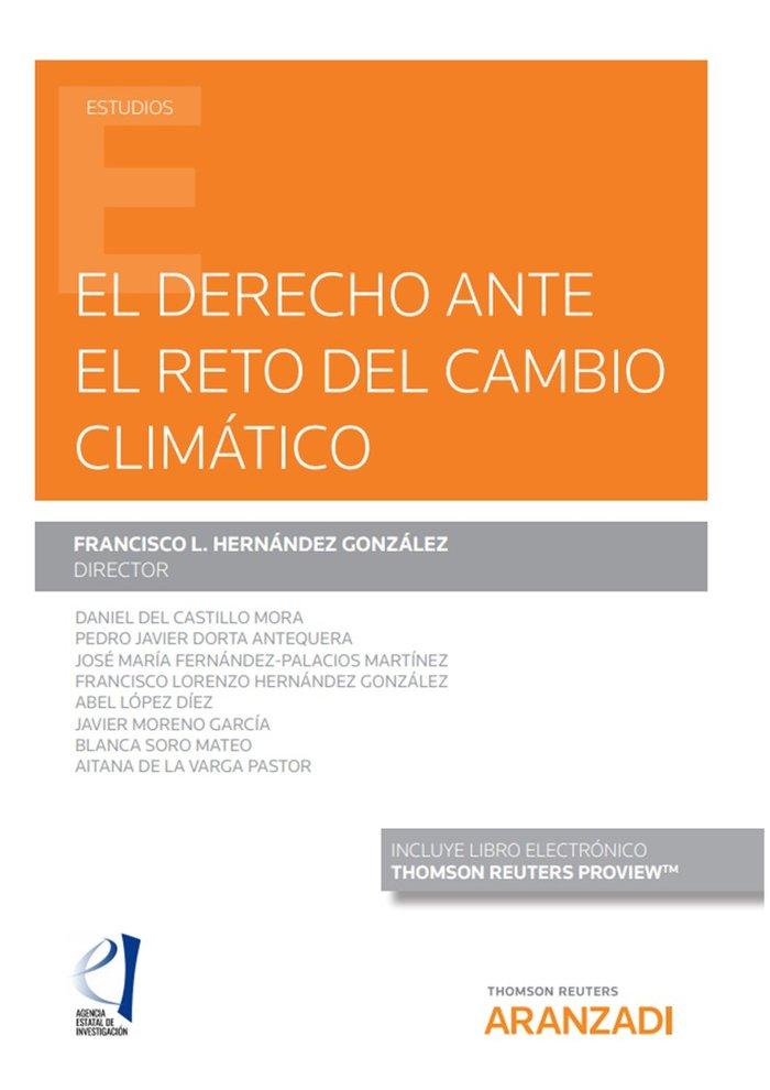Derecho ante el reto del cambio climatico,el