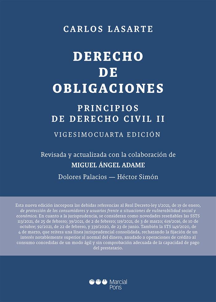 Principios de derecho civil tomo ii: derecho obligaciones