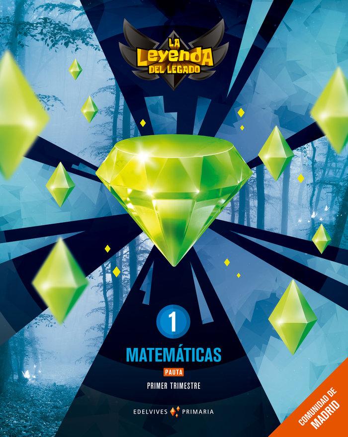 Matematicas 1ºep pauta trimestres madrid 18 leyend