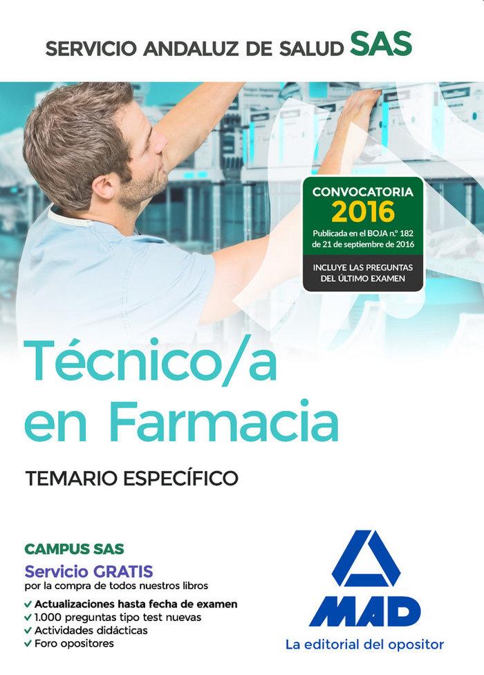 Tecnico en farmacia del servicio andaluz de salud temario