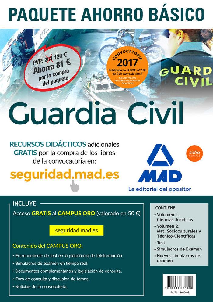 Paquete ahorro basico guardia civil 2017